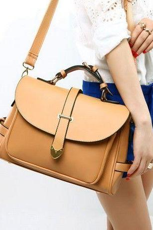 Chic Vintage Style Brown Hand Bag