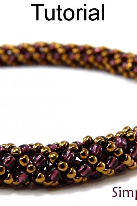 Beading Tutorial Pattern Bracelet Necklace - Russian Spiral Stitch - Simple Bead Patterns - Simple Spiral #4956