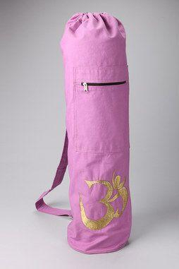 Shimmering Om Yoga Mat Bag in PINK