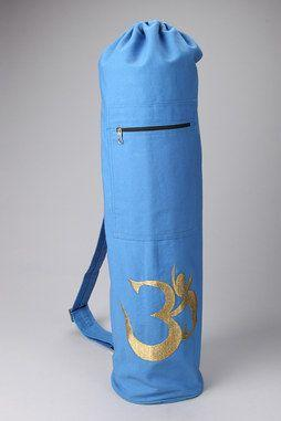 Shimmering Om Yoga Mat Bag in BLUE