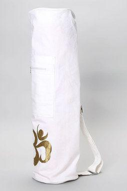 Shimmering Om Yoga Mat Bag in WHITE