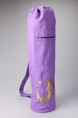 Shimmering Om Yoga Mat Bag in LAVENDER
