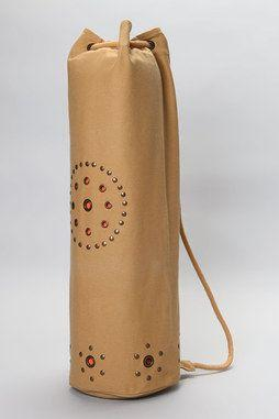 Chakra Rivet Yoga Mat Bag in CAMEL