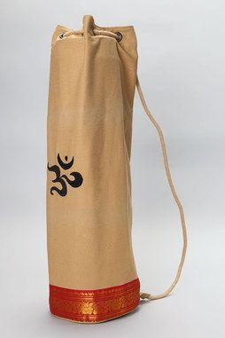 Saree Trimmed Yoga Mat Bag in CAMEL