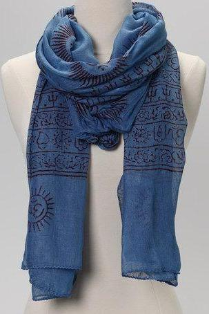 OM Prayer Shawl in INDIGO