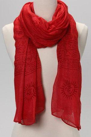 OM Prayer Shawl in POPPY