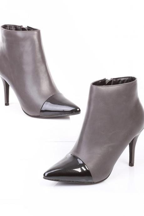 Grey High Heel Boots. Glacier Gray Boots. Grey Leather Boots. Heel Boots. Black and Grey Boots. Winter Boots.