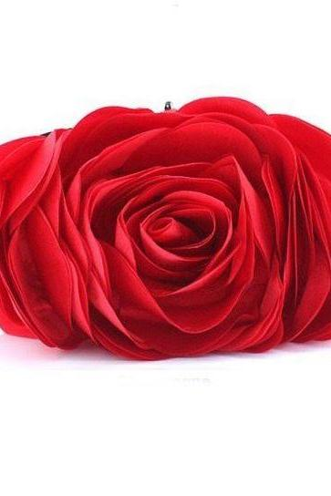 READY TO SHIP! Red Rose Eye Catching Clutch for Women-Elegant, Eye Catching Rare Rose Clutch- Evening Purse for Women