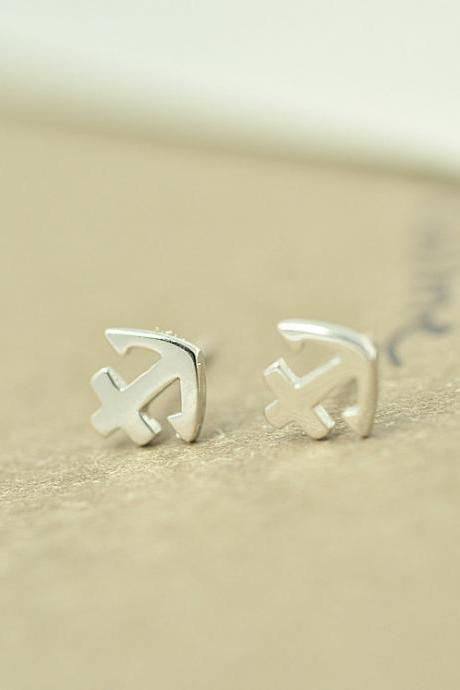 Anchor earring, Sterling silver Anchor earring