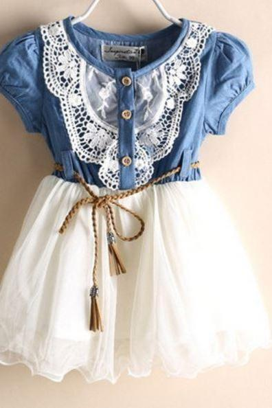 Rodeo Denim Dresses for Girls Cowgirl Western Style Rodeo Cowgirls Outfit