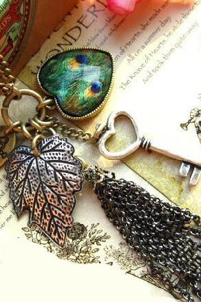 Necklace Jewelry Pretty Fashion Owl Retro Bohemia Style Love Heart Peacock Feather Long Chain NL090