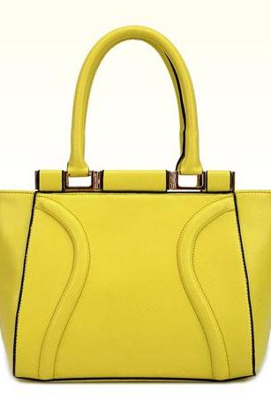 Classic Yellow Fashion Handbag