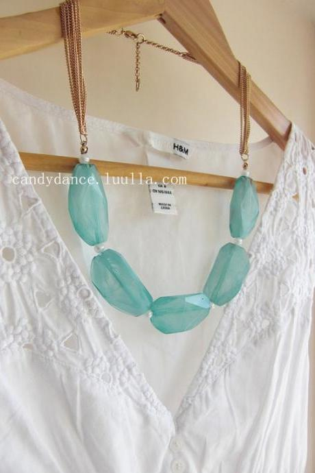 Blue Sky Beads Bubble Statement Necklace