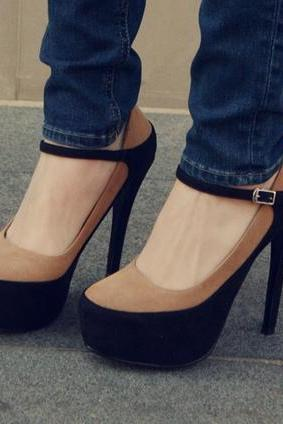 Fashion Color Block High Heel Pumps