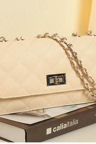 Beautiful Beige Chain Strap Bag