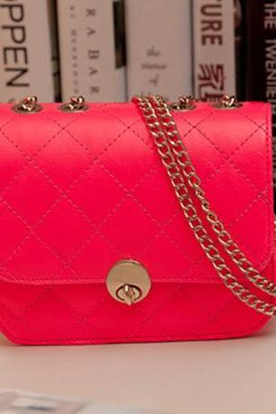 Cute Rose Colored Chain Strap Hand Bag