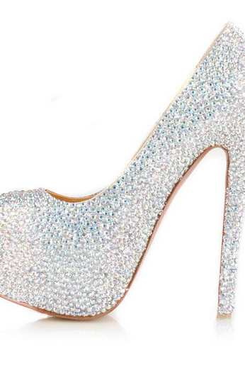 Gorgeous High Heel Rhinestone Fashion High Heels(4 colors) women dress shoes #u6-kgJ