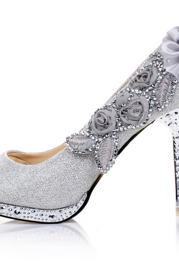 Wedding Shoes Diamond Princess Wedding shoes high-heeled 8CM shoes high heels
