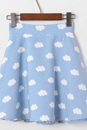 2014 Spring Summer High Waist Cloudy Skirt