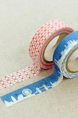 Masking Adhesive Tape Decorative Tape - Misty