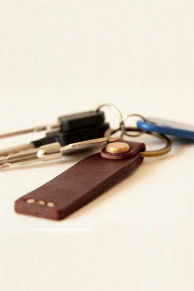 Leather Keychain , Leather Keyring, Key Chain , Simple key chain