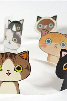 Cute & Kawaii Cats Designed Illustration Multipurpose Tape