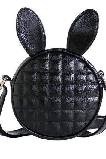 Black Bunny Circular Shoulder Bag