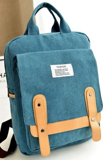 Leisure School Canvas Backpack