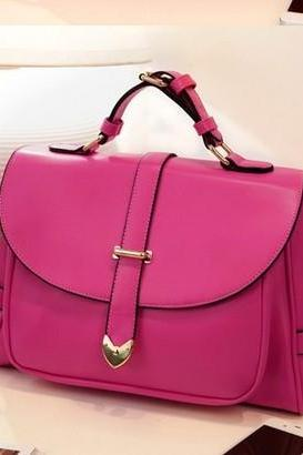 Chic Rose Colored Fashion Hand Bag