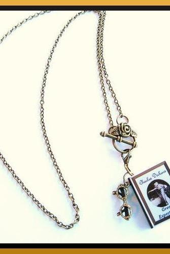 Miniature Book Charm Necklace - Dickens or Customized with your Favorite Vintage Classic Novel