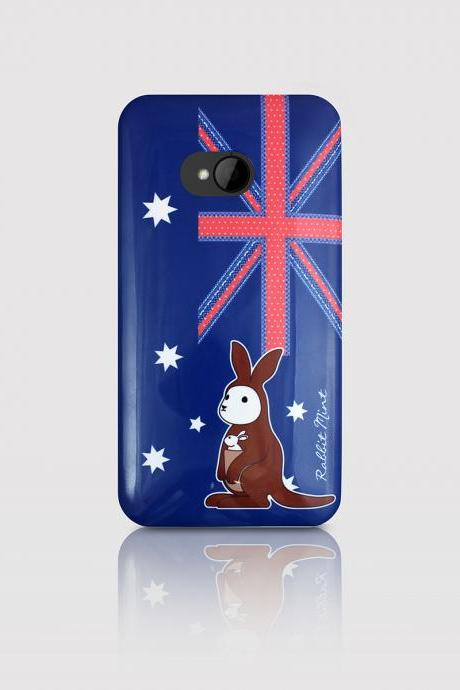 HTC One Case - Bunny loves Kangaroo (P00054)