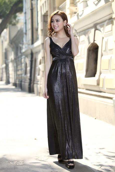 Long Formal Gown Ball Party Cocktail Evening Prom Dress Empire Style Maxi Dress