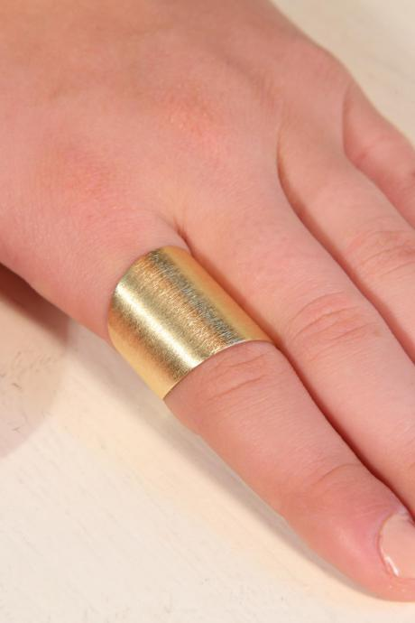 Adjustable ring, gold ring, knuckle ring, wide ring, wide band ring, statement ring- T14