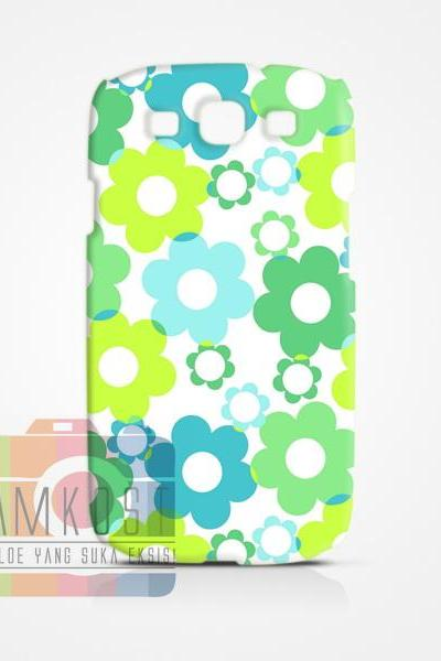 greeen flower romantic Case Samsung S4