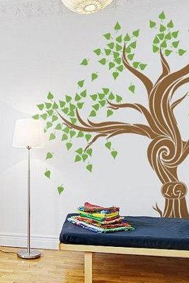 Vinyl Wall Decal nursery custom word Photo family tree picture frame leaf home house Art wall Decals Wall Sticker stickers baby room kid 903