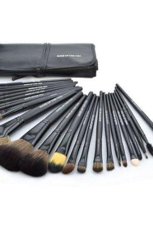 Professional 24 PCS Makeup Brush Set Make-up Toiletry Kit Wool Brand Make Up Brush Set Case