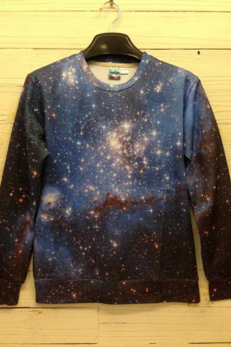Winter Women/Men Space print Galaxy hoodies Sweaters Pullovers panda/tiger/cat animal 3D Sweatshirt Tops T Shirt