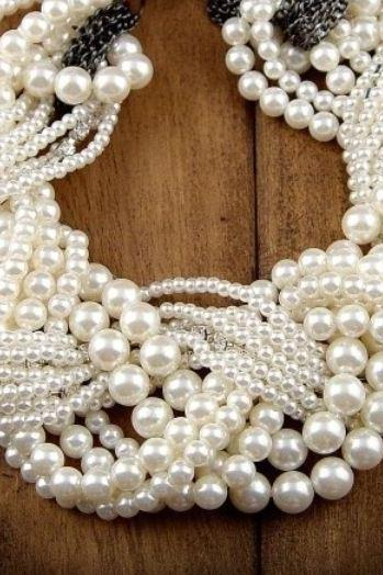 Pearl Necklace Pearl Choker Wedding White Pearl Necklace