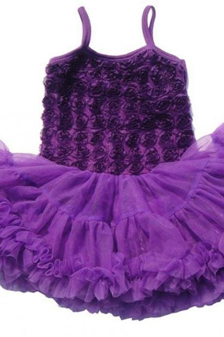 Purple Tutu Dress Fluffy Multilayer Ballet Birthday Theme Pageant Outfit