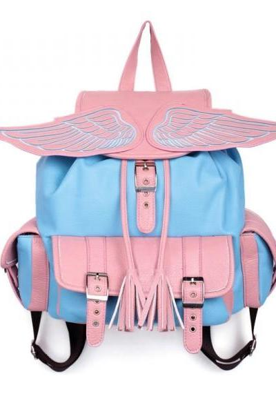 Sexy pink and blue ANGEL'S WING BACKPACK