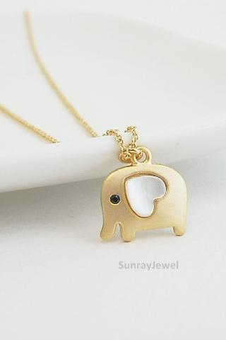 Elephant necklace, Bird necklace