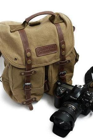 Sporty Camera Bag Camera Messenger Bag Canvas Camera Bags Photography bag---khaki/coffee green/camo