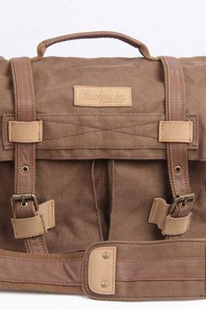 Coffee Canvas Camera Bag Outdoor Camera Bags Camera Messenger Bag Camera Crossbody Bags