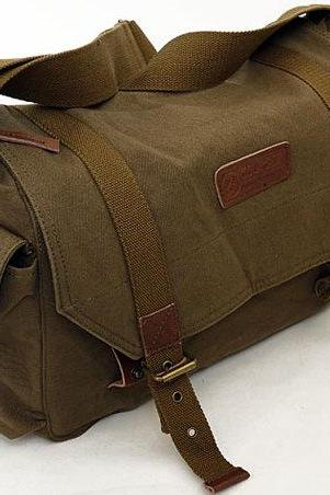 Coffee green Camera Bag Camera Messenger Bag Canvas Camera Bags Photography bag