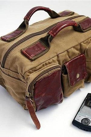 Camera Bag Canvas Leather Waist Bag Camera Waist Bags Retro Camera Bag