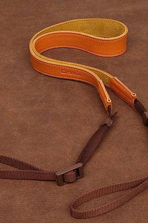 Orange color Leather Camera strap DSLR Camera Strap Handmade Leather Camera Strap