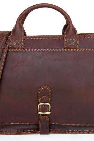 Handmade Leather Messenger Bag Men's Leather Briefcase Leather Business Messenger Bag Laptop Bag Man's Handbags