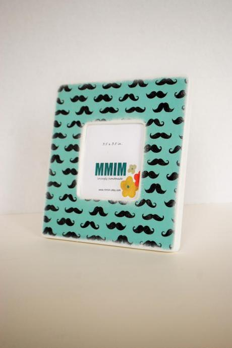 Mr. Mustache Picture Frame