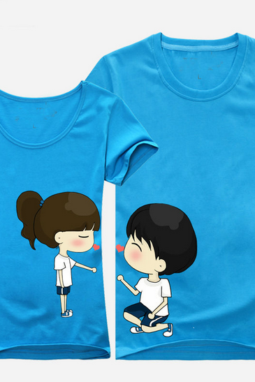 New Trend Of Korean Lovers Summer Original Sweet Personality Couple T-shirt Short-Sleeve