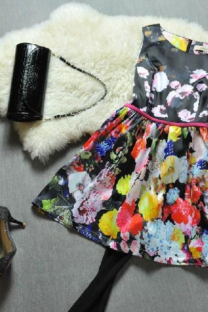 spring big flower princess skirt H442117